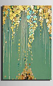 手描きの 抽象画 風景 縦長,Modern 欧風 1枚 キャンバス ハング塗装油絵 For ホームデコレーション