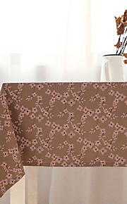 Vierkant Bloemen Tafellakens , Mengvezel Linnen en Katoen Materiaal Tabel Dceoration 1/set