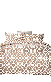 Solid Duvet Cover Sets 3 Piece Polyester Pattern Reactive Print Polyester Queen 1pc Duvet Cover 2pcs Shams
