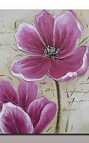 手描きの 静物画 花柄/植物の 横長,Modern 欧風 1枚 ハング塗装油絵 For ホームデコレーション