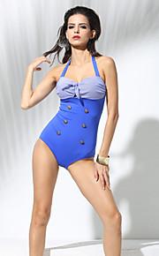 婦人向け ホルター ワンピース,ハイライズ カラーブロック フラワーパターン ソリッド スポーツ レトロ風 ナイロン