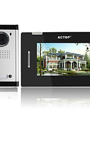 actop 7inch 4wire touch-tastatur med flere lejlighed video dørtelefon intercom-system
