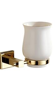 Toothbrush Holders Modern Linen/Polyester Blend   tumbler holder brass gold