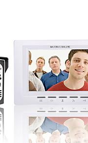 mountainone 7 tommer video dørtelefon dørklokken intercom kit 1-kamera 1-monitor nattesyn