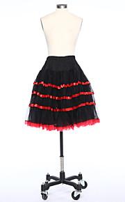 תחתונית  סליפ שמלת נשף באורך ברך 2 כותנה לבן שחור