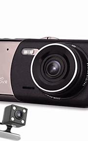 auto dvr 170 graden dual lens 4 inch groothoek infrarood LED nachtzicht lus videorecorder g-meetorgaan parking bewaking registrator full