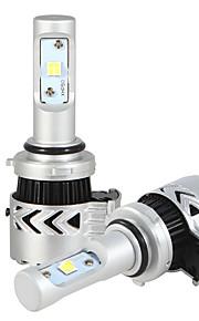 2pcs 9006 6500K LED Headlight Conversion Kit 36W 7200LM COB White Light Bulbs