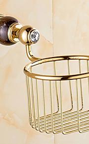 European Style Solid Brass Gold Bathroom Shelf Bathroom Toilet Paper Holder Bathroom Accessories