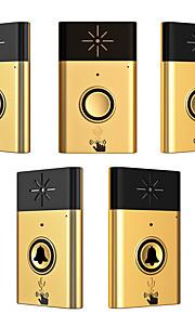 Wireless Voice intercom Doorbell Support Indoor and Outdoor Voice Intercom Up to 200ft Work Range Two Trasmitter and Three Receivers