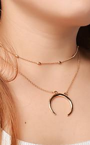 Damen Halsketten Anhängerketten MOON Aleación Anhänger Stil Modisch individualisiert Euramerican Schmuck FürParty Besondere Anlässe