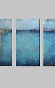 Pintados à mão Abstrato Horizontal,Moderno Estilo Europeu 3 Painéis Tela Pintura a Óleo For Decoração para casa