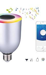 7W E26/E27 Ampoules LED Intelligentes 12 SMD 5050 600 lm Blanc Froid RVB Gradable Bluetooth AC 100-240 V 1 pièce
