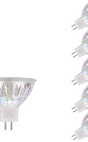 5.5W GU5.3(MR16) Spot LED MR16 1 COB 450 lm Blanc Chaud DC 12 AC 12 V 6 pièces