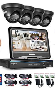 Sannce® 8ch 4pcs 720p vejrbestandigt sikkerhedssystem 4in1 1080p lcd dvr understøttet tvi analog ahd ip kamera 1tb hd