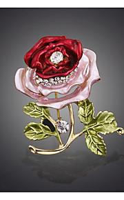 Naisten Rintaneulat Kukka Metalliseos Flower Shape Korut Käyttötarkoitus Häät Party Erikoistilaisuus Juhlat Juhla Arkikäyttö Päivittäin