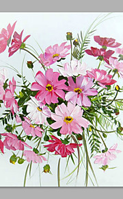 IARTS® Hand Painted Abstract Charming Daisy Bouquet Floral Oil Painting with Stretched Frame Picture For Home Decoration Ready To Hang