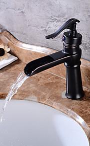 Mittellage Ein Loch for  Öl-riebe Bronze , Waschbecken Wasserhahn
