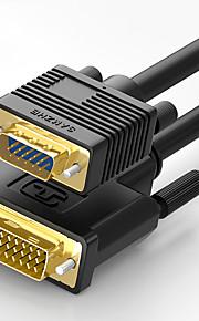 DVI sovitinkaapeli, DVI to VGA sovitinkaapeli Uros - Uros Kullattu kupari 3.0M (10ft)
