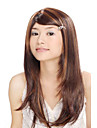 Capless Long Synthetic Dark Brown With Golden Brown Straight Hair Wig