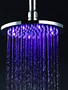 Contemporary Rain Shower Chrome Feature for  LED / Rainfall , Shower Head