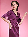 Wedding  Wraps Coats/Jackets Half-Sleeve Satin Grape Wedding / Party/Evening Scoop Open Front