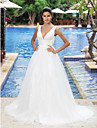 Lanting Bride® Corte en A / PrincesaManzana / Triangulo Invertido / Cuadrado / Misses / Tallas Grandes / Reloj de Arena / Pera / Tallas
