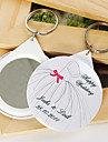Personalized Mirror Key Ring - Wedding Dress (set of 12)