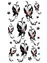 5 pcs tatouage de papillon etanche temporaire (17.5cm * 10cm)