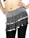 Belly Dance Belt Women\'s Training Polystyrene Beading / Coins Silver Belly Dance Spring, Fall, Winter, Summer