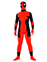 Collants Ninja Costume Zentai Costumes de Cosplay Rouge Mosaique Collant/Combinaison Costume Zentai Elasthanne UnisexeHalloween Noel Fete