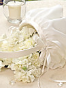 Elegant Flower Basket In Ivory Chiffon Flower Girl Basket