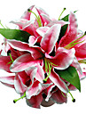 Pink Satin Lily Bridal Bouquet
