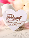 Personalized Heart Shaped Favor Tag - Carriage (Set of 60)