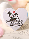 Personalized Heart Shaped Favor Tag - Bride & Groom  (Set of 60)