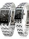 Bărbați pentru Doamne Pentru cupluri Ceas Elegant Ceas de Mână Quartz / Oțel inoxidabil Bandă Casual Argint Argintiu