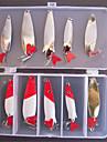 10 pcs Poissons nageur/Leurre dur Appat metallique Kits de leurre leurres de pecheAppat metallique Poissons nageur/Leurre dur Kits de