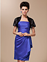 Wedding  Wraps Shrugs Short Sleeve Satin / Silk Black Wedding / Party/Evening High Neck T-shirt Open Front