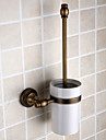 "Toilet Brush Holder Antique Brass Wall Mounted 120 x 150 x 430mm (4.72 x 5.90 x 16.9"") Brass Antique"