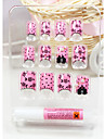 härliga rosa falska nail art tips