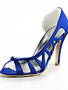 belos sapatos de cetim bombas de salto agulha oca-out mulheres casamento partido