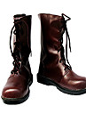 Bottes de Cosplay Vampire Knight Yuki Kuran Anime Chaussures de cosplay Marron Cuir PU Feminin