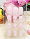 12st heltäckande rosa ros stil akryl naglar och tips med spik lim
