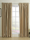 Two Panels Mediterranean Stripe Gold Bedroom Rayon Panel Curtains Drapes
