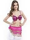 Dancewear Polyester With Sequined Performance Bra Top for Ladies More Colors