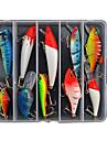 10 pcs Hard Bait / Lure kits / Fishing Lures Hard Bait / Lure Packs Assorted Colors g Ounce mm inch,Hard PlasticSea Fishing / Freshwater