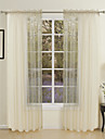 Modern Two Panels Solid Gold Living Room Polyester Sheer Curtains Shades