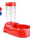 Chat Chien Bols & Bouteilles d\'eau Animaux de Compagnie Bols & alimentation Portable Rouge Bleu Plastique