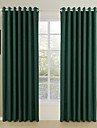 Modern Two Panels Solid Beige  Brown  Green Dining Room Polyester Panel Curtains Drapes