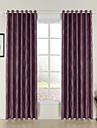 rococo deux panneaux bande rideaux a panneaux en polyester de chambre pourpre des rideaux