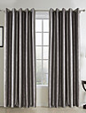 Grey Floral Botanical Polyester Blackout Curtains Drapes Shades